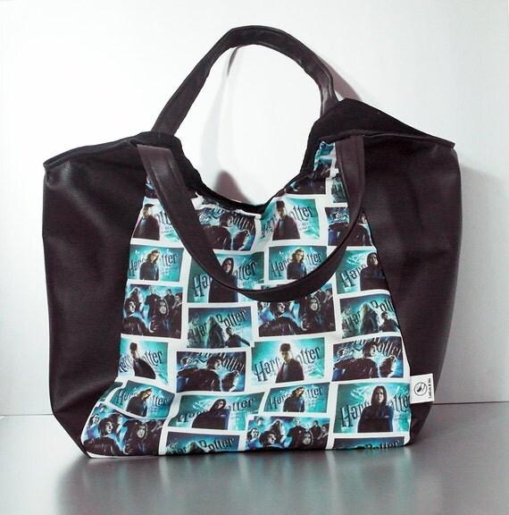 Harry Potter Book Bag : Harry potter print bag slouchy handbag large