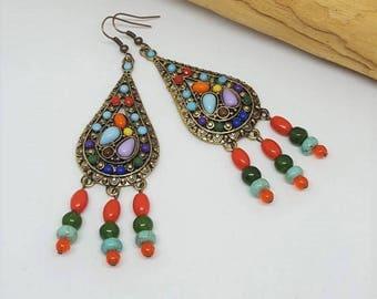 Groovy Hippie Chandelier Earrings - Groovy Chandelier Earrings - Hippie Chandelier Earrings