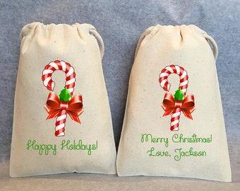 "15- Christmas bags, Christmas favor bags, Christmas gift bag, Christmas treat bag, Holiday favor bags, Christmas gift,  4""x6"""