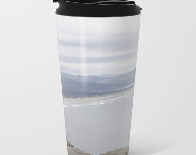 Travel Mug Metal - Beach Oregon - Beach Theme Coffee Travel Mug -  Hot or Cold - 15 oz Mug - Stainless Steel - Made to Order