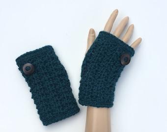 Fingerless Gloves/Wrist Warmers ~ Merino Wool/Alpaca ~