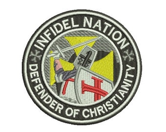 infidel nation embroidery design