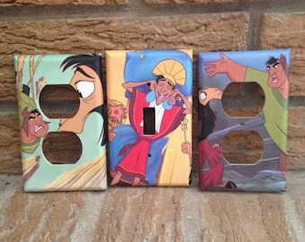 Emperors New Groove Light Switch and Elctrical Covers, Cuzco, Pacha, Decoration, Inca