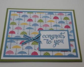 Wedding Congrats Umbrella card (1)