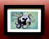 The Sea Witch in 4 by 6 Black Frame