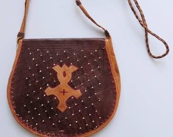 Bohemian bag boho leather 70s