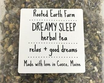 Dreamy Sleep Herbal Tea - Insomnia Tea - Organic Tea - Herb Tea - Sleep Tea - Relax Tea - Dream Tea - Sweet Dreams Tea
