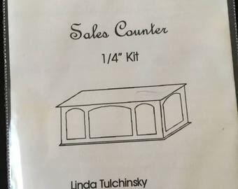 "Dollhouse Miniature  1/4"" scale Sales Counter Kit (JV)"
