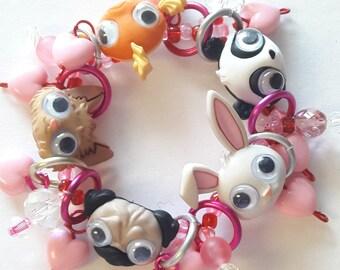 Bug eye bracelet/Animal/Beadiebracelet
