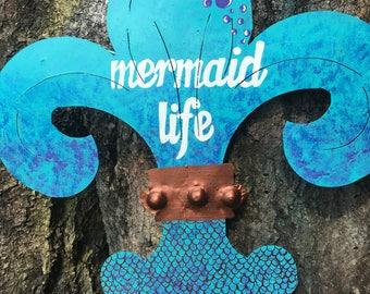 Mermaid life fleur de lis