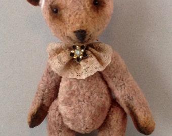 "Artist teddy bear OOAK, jointed teddy ""The Powder"""