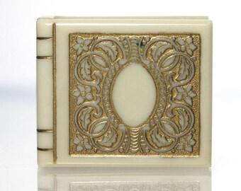 Vintage Art Deco Celluloid Ring Box Book Shape Durango Colorado