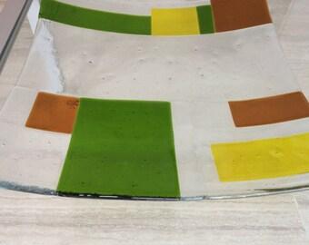 Fused glass bowl, candy dish, fruit bowl, serving dish, handmade, Dutch design,
