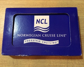 Vintage Norwegian Cruise Line playing cards, deck of cards, cruise line advertising