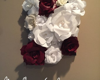 3D Wall Flowers, 3D Flowers, Flower Wall Hanging, Fabric Roses, Fabric Roses Part 37