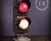Vintage Industrial Railroad Train Light Signal Railroadiana