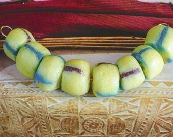 20 pcs. Krobo Beads Ghana Beads Trade Beads Africa