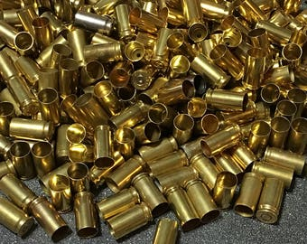 9mm brass, bullet jewelry supplies, 250+ count, cleaned, 9mm bullets, 9mm casings, reloading supplies, second amendment, molon labe