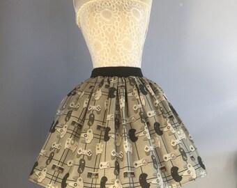 Ladies or girls Game Controller inspired full skater syle skirt