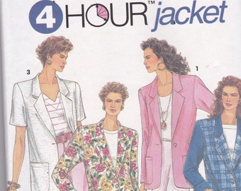 Simplicity 8301 Vintage Pattern Womens Lined or Unlined Jackets in 3 Variations Size 10,12,14,16 UNCUT