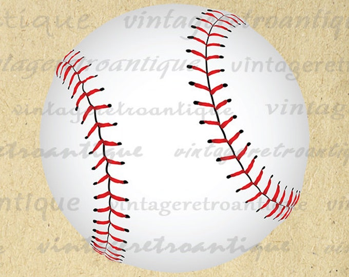 Digital Baseball Printable Image Baseball Ball Clipart Download Color Sports Graphic Digital Print Clip Art Jpg Png Vector HQ 300dpi No.2036