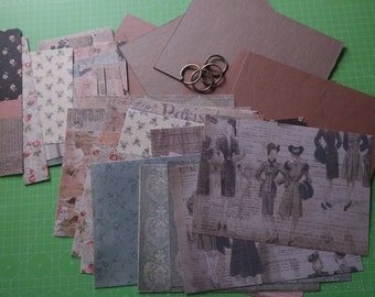 DIY scrapbook album Kit vintage 8 x 5.5 I