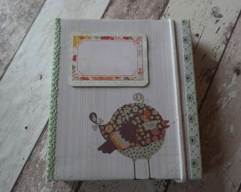 """Mini album """"bird"""" 18 x 20,5 cm"""