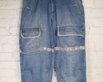90's Vintage Marithe Francois Girbaud Jeans small stain , hiphop rap denim size 34