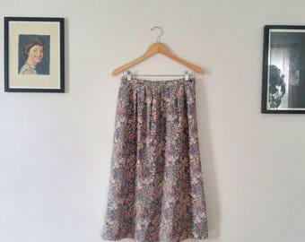 Country Sophisticates Pendleton Floral Midi Skirt