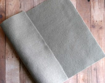 Gray Acrylic Felt Sheets or Circles, High Quality, Made in USA, Grey Felt, 5 9x12 Sheets or 30 Pack of 1 inch Circles, Quick Ship