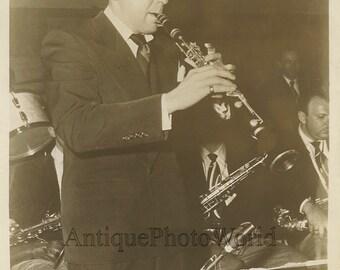 Woody Herman playing clarinet antique jazz music photo