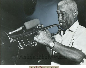 De De Pierce jazz trumpet player vintage photo