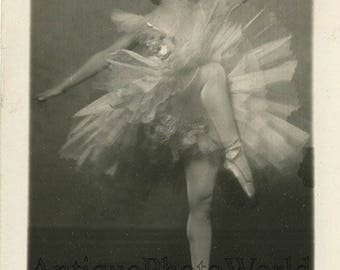 Maria Gambarelli beautiful ballerina ballet dancer rare antique photo