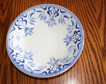 Luneville Opaque Bowl- Blue & White Made in France