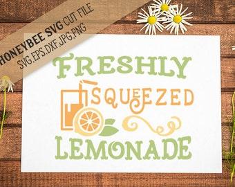 Freshly Squeezed Lemonade svg Summer svg Summertime svg Summer decor svg Lemonade svg Fresh Lemonade svg Silhouette svg Cricut svg eps dxf