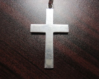 Big Sterling Silver 925 Cross Pendant