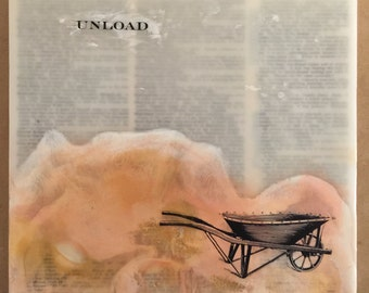 "Encaustic Painting: ""Unload"""