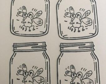 Bug in a Jar 4 pc