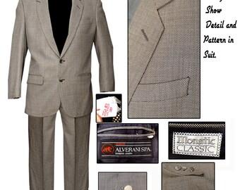 Vintage Suit / Mad Men Suit / Grey 2 Button Suit / 1960s Suit / Mod Suit