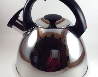 Mid Century Modern OXO Good Grips® Click Click Tea Kettle in Stainless Steel/Retro Tea Kettle