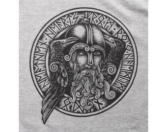 Heathen Hearts Odin Raven Viking Norse Asatru T-Shirt