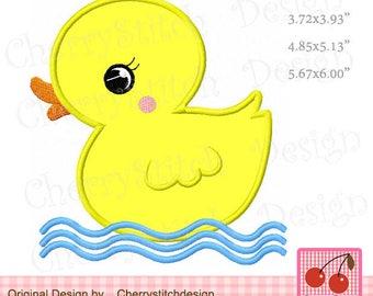 Duck Machine Embroidery Applique Design