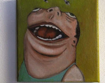 Lowbrow Outisder Art original oil painting