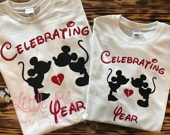 Disney Shirts | Disney Anniversary Shirts | Disney Couple Shirts | Disney Wedding Shirts | Disney Vacation Shirt | Disney World | Disneyland