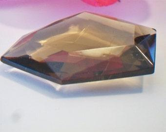 Brown Free Form Glass Gem Jewelry Making Supplies Irregular Smokey Quartz