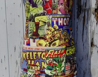Comic Book Cover Dress - Size 8 10 12 - Bodycon Wiggle Movie  Superhero Geek Cartoon Hulk Thor Marvel Flash Hero