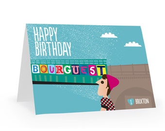 Brixton Happy Birthday card