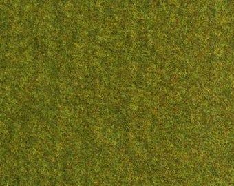 "Fat Eighth - Wool Fabric - Grass Green Wool - 100% Wool - 16"" x 12"""