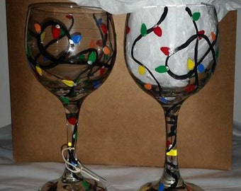 Light Up The Holidays Glasses