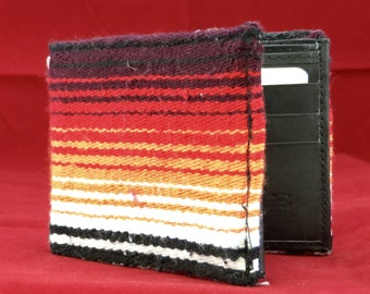 RARE SARAPE print handcrafted billfold wallet